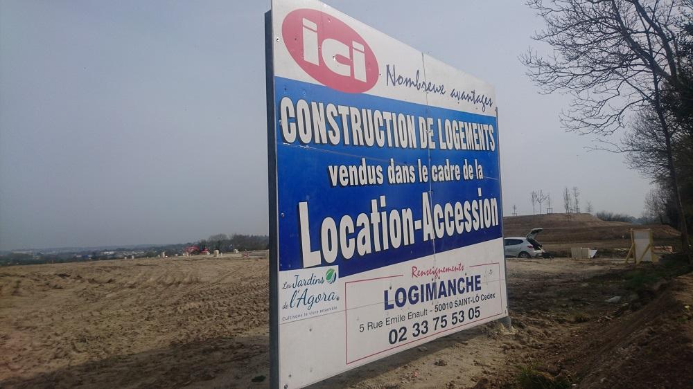 Equeurdreville Logimanche panneau location accession